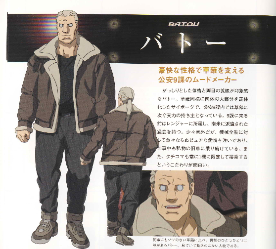 Batou From Ghost In The Shell Stand Alone Complex Series