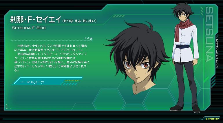 Setsuna F Seiei From Mobile Suit Gundam 00